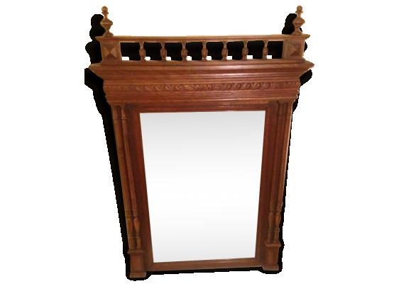 miroir de chemin e ancien en bois sculpt d but xxeme. Black Bedroom Furniture Sets. Home Design Ideas