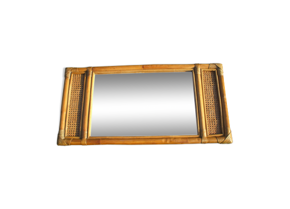 Miroir rectangulaire en rotin et cannage rotin et osier for Miroir rectangulaire en rotin