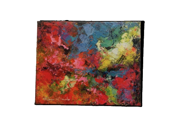 Peinture Pivoines par Domido