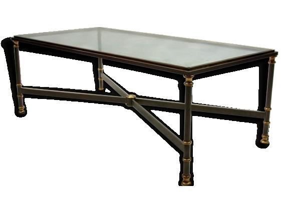 Table basse avec plateau de verre