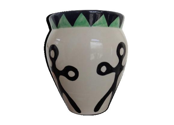 Vase céramique motifs ethniques