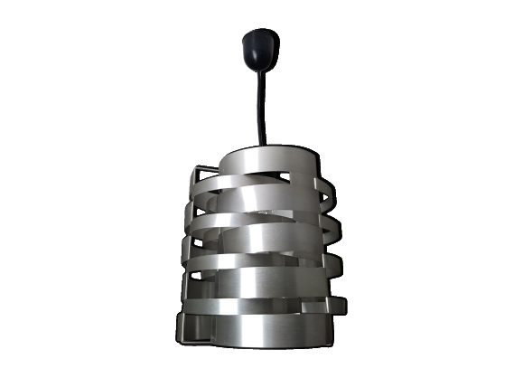 Suspension en lamelles d'aluminium brossé