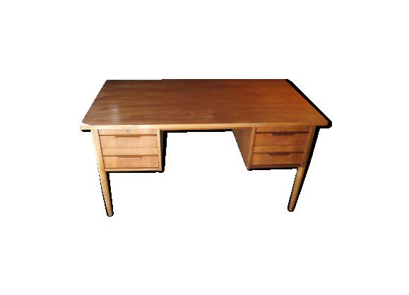 bureau scandinave des ann es 60 en teck teck bois couleur bon tat scandinave. Black Bedroom Furniture Sets. Home Design Ideas