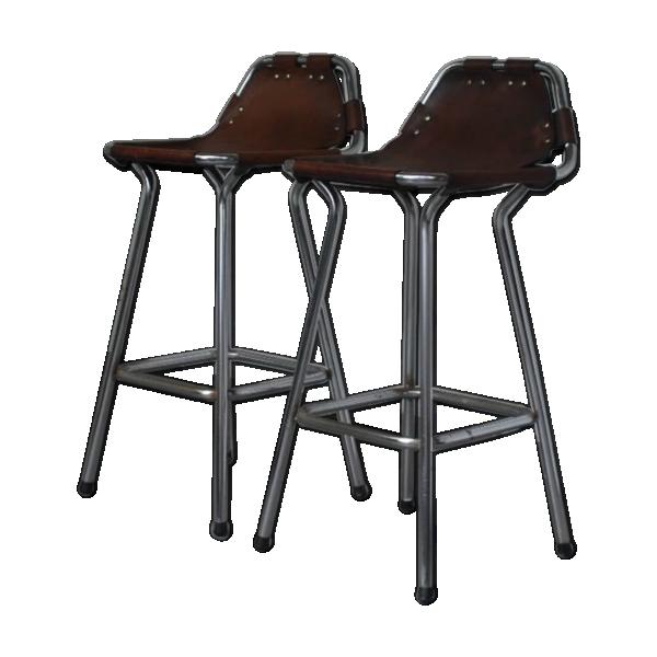 tabouret charlotte perriand cuir marron bon tat design ddb3edf459bf376694537841a294dd81. Black Bedroom Furniture Sets. Home Design Ideas