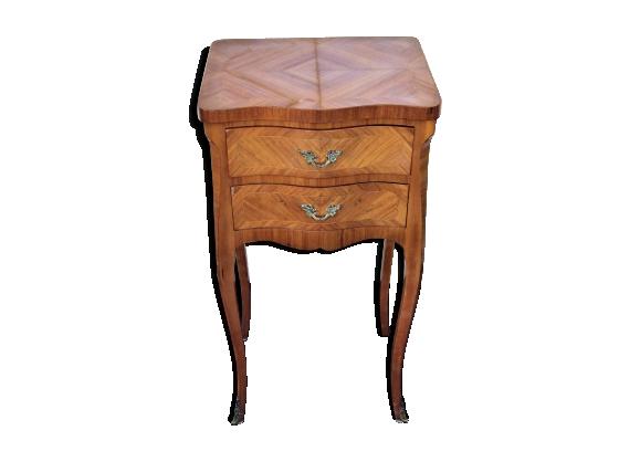 Chevet marqueté de style Louis XV