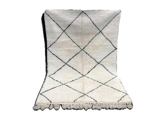 tapis berb re beni ouarain 220x155cm tissu multicolore bon tat thnique. Black Bedroom Furniture Sets. Home Design Ideas