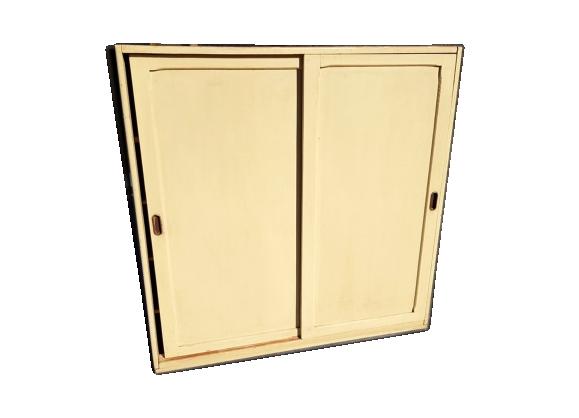 Meuble de rangement à portes coulissantes vintage