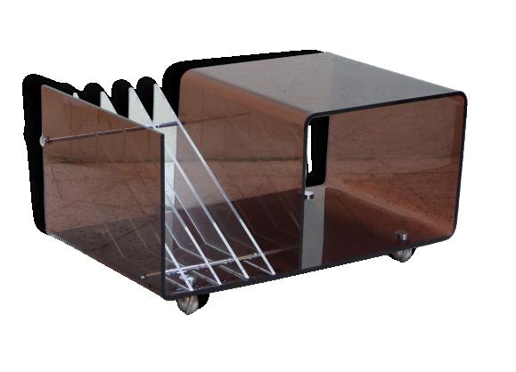 meuble tv plexiglass - porte-revue et range-vinyles plexiglass de ... - Meuble Tele Design Roche Bobois