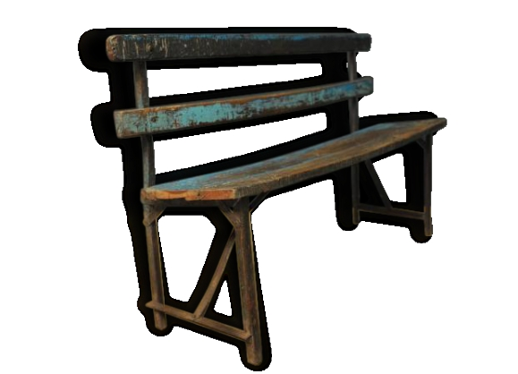Joli banc vintage en bois et fer