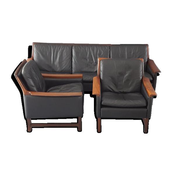 minerva canap avec deux fauteuils torbjorn afdal pour. Black Bedroom Furniture Sets. Home Design Ideas