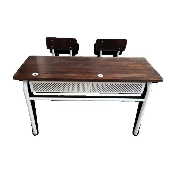 pupitre colier bois mat riau bois couleur dans son jus industriel 106643. Black Bedroom Furniture Sets. Home Design Ideas