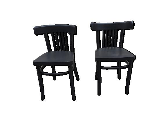 Paire de chaises bistro vintage