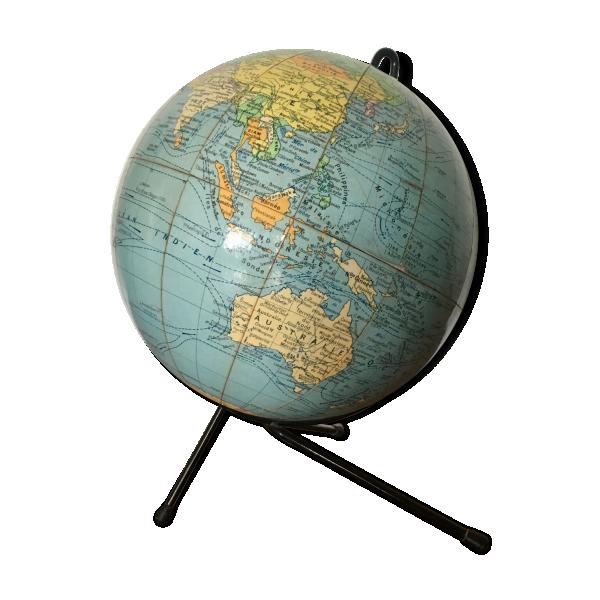 globe terrestre girard barr re 1960 m tal multicolore bon tat vintage. Black Bedroom Furniture Sets. Home Design Ideas