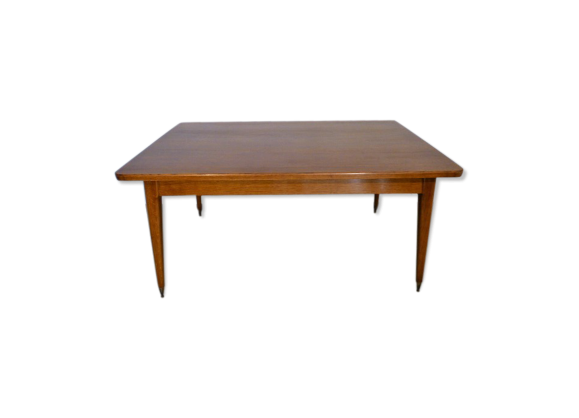 Grande table a manger vintage rectangulaire 1970 bois for Table de salle a manger grande largeur