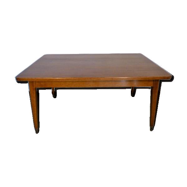 grande table a manger vintage rectangulaire 1970 bois. Black Bedroom Furniture Sets. Home Design Ideas