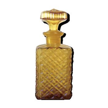 Carafe whisky ou bouteille en verre moulé orange