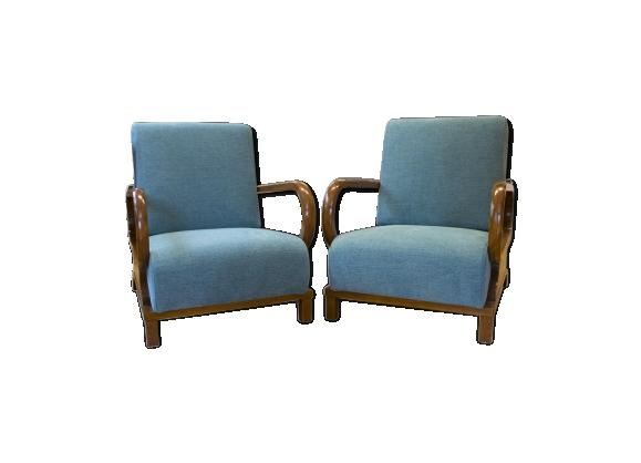 Paire de fauteuils art déco ajustables 1930s
