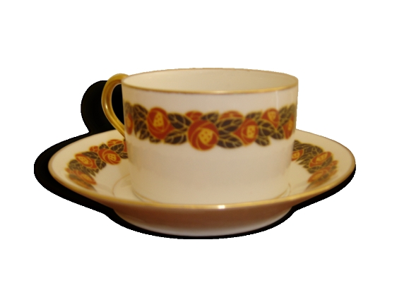 Deux tasses à thé limoges porcelaine fine Raynaud