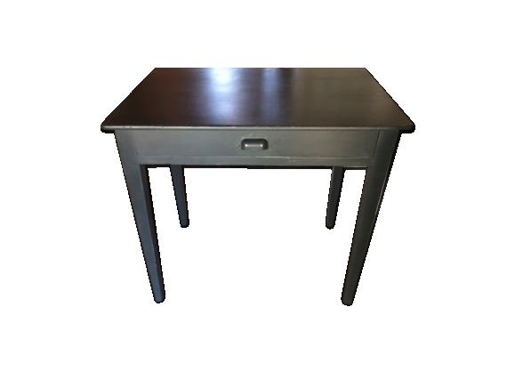 Table à tiroir gris ardoise