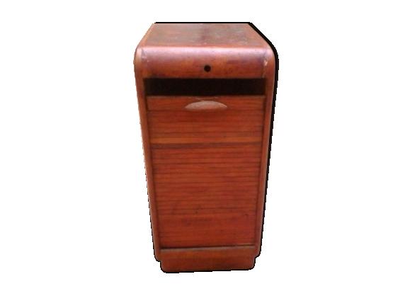 meuble bureau rideau classeur de bureau ancien fermant par un volet coulissant great armoire. Black Bedroom Furniture Sets. Home Design Ideas
