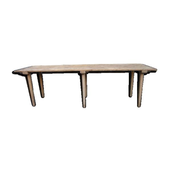 table de salle des f tes bois mat riau bois couleur dans son jus classique. Black Bedroom Furniture Sets. Home Design Ideas