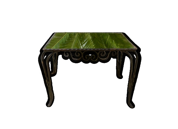 Table basse miroir for Miroir fer forge noir