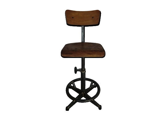 Chaise Datelier Industrielle Restaure