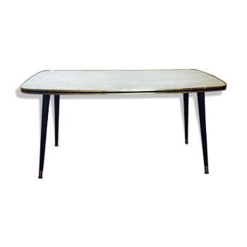 Tables vintage d 39 occasion - Table basse effet marbre ...