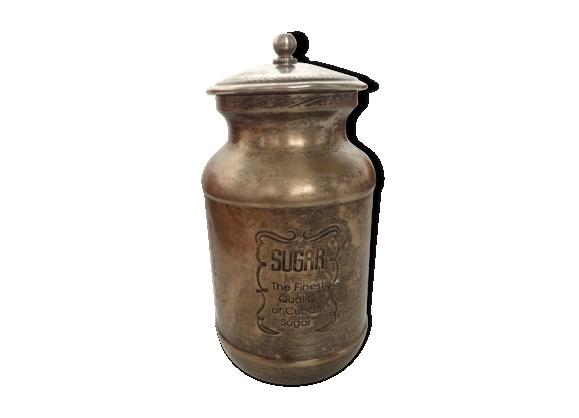 Ancien pot à sucre en métal argenté