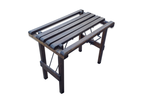 tabouret pliant en bois bois mat riau bois couleur dans son jus vintage. Black Bedroom Furniture Sets. Home Design Ideas