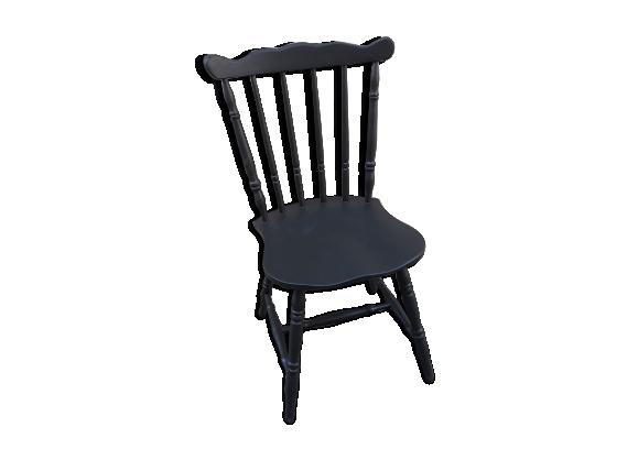 Chaise bistro noire vintage