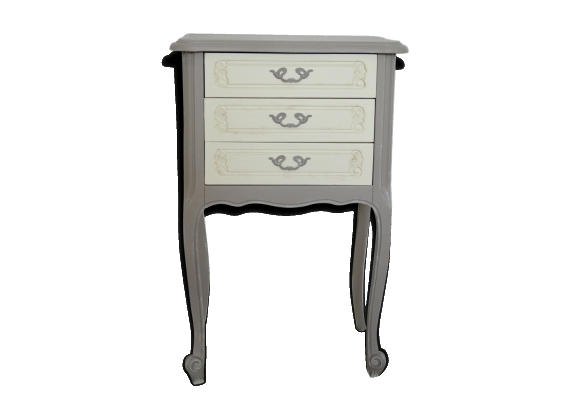 Chevet style Louis XV patine taupe