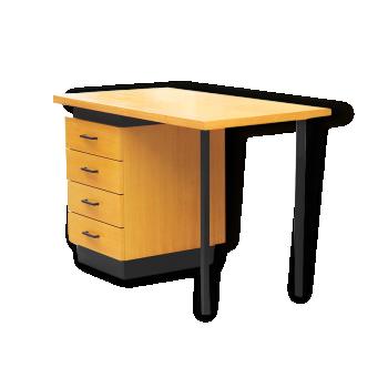 bureau ann es 50 bois mat riau bon tat classique 78456. Black Bedroom Furniture Sets. Home Design Ideas
