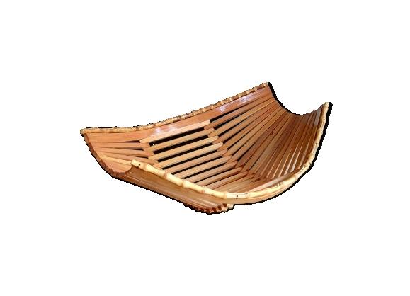Coupe à fruits années 60 en bambou