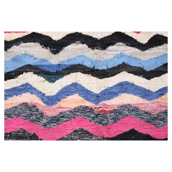tapis kilim 294x143cm tissu multicolore bon tat. Black Bedroom Furniture Sets. Home Design Ideas