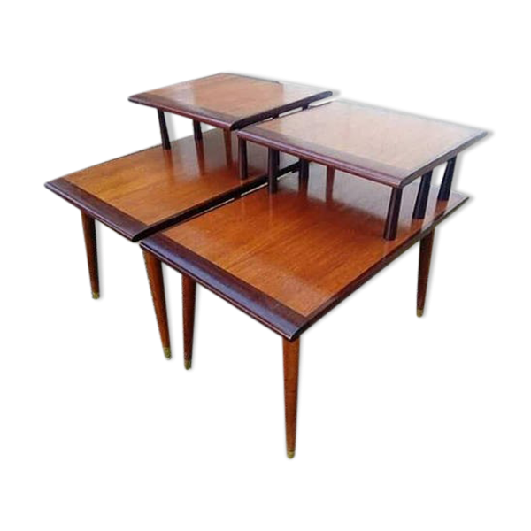 paire de tables vintage bout de canap scandinave ann es. Black Bedroom Furniture Sets. Home Design Ideas