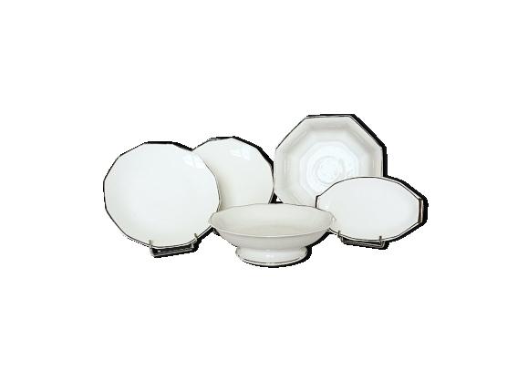 Vaisselle art-déco de service en porcelaine de Limoges