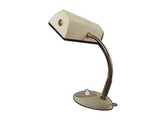 Lampe en laiton et métal laqué années 50/60