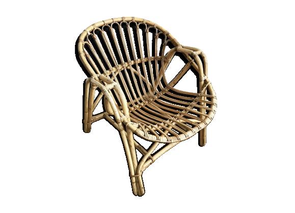 fauteuil en rotin vintage rotin et osier bois couleur. Black Bedroom Furniture Sets. Home Design Ideas