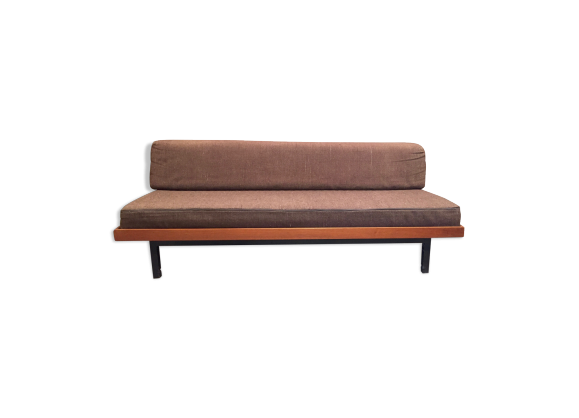 canap modulable daybed design scandinave bois mat riau marron bon tat scandinave. Black Bedroom Furniture Sets. Home Design Ideas