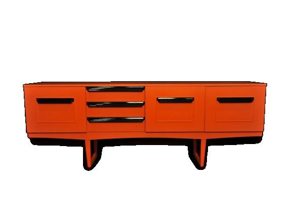 Enfilade Stateroom by Stonehill années 60 laquée orange et noir