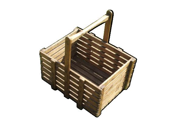 panier en bois bois mat riau bois couleur bon tat classique. Black Bedroom Furniture Sets. Home Design Ideas