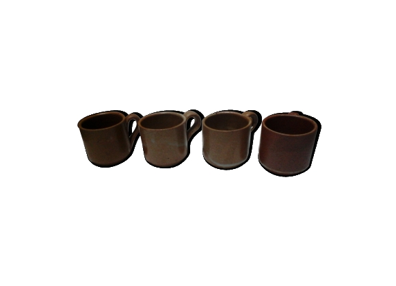 Lot de 4 tasses en grès