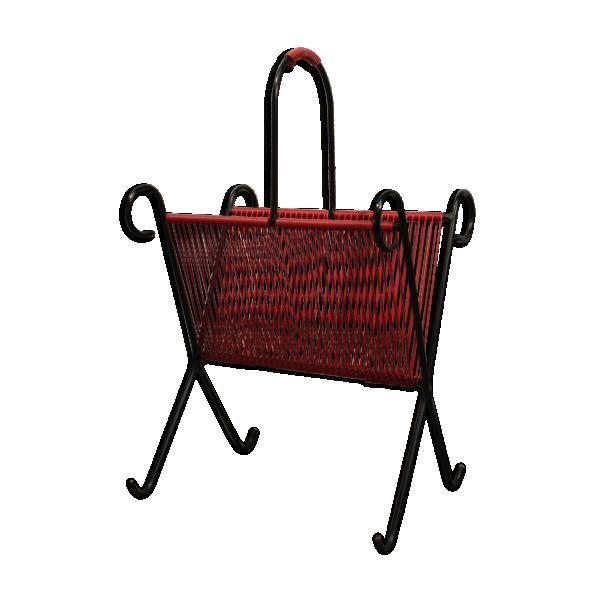 Porte revue scoubidou ann es 60 m tal rouge bon tat for Porte metal 60