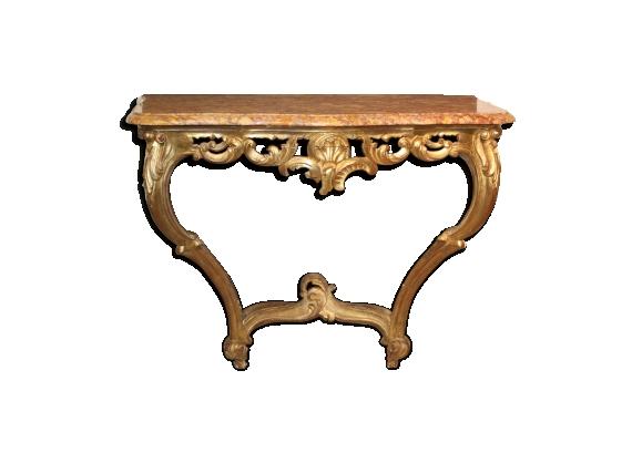 Console doré style Louis XV