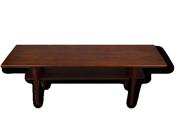 Table Basse Design Scandinave en Teck Samcom Vintage 1960