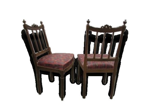 Ensemble de chaises et fauteuils assortis anciens