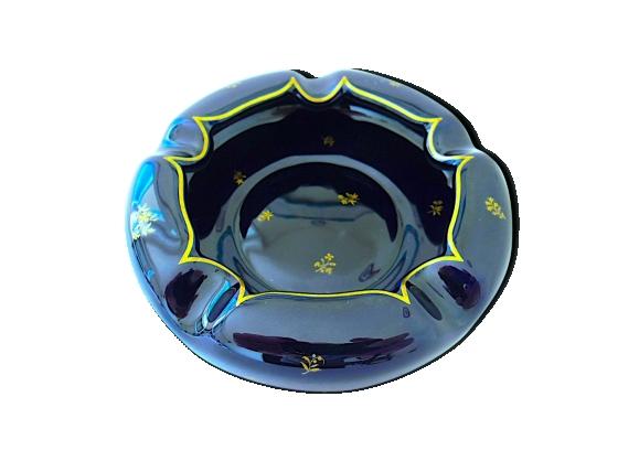 Cendrier en porcelaine bleue de Sèvres