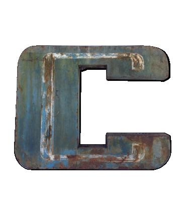 Lettre vintage C