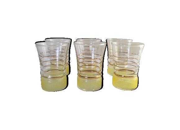 6 verres granité